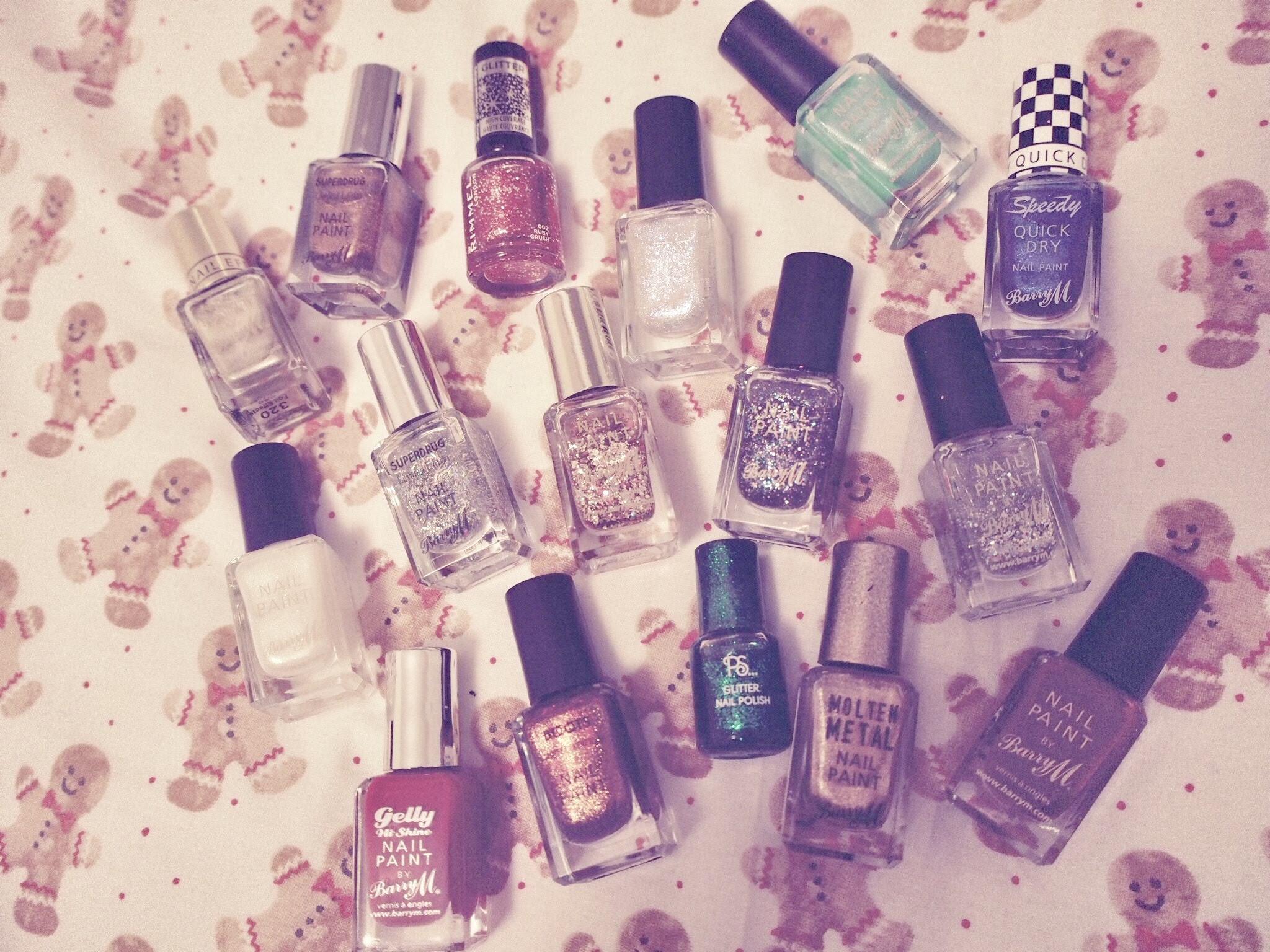 xmas nail polish
