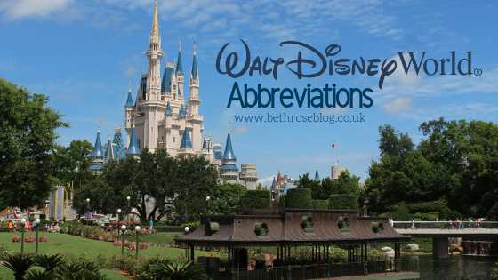 walt disney world abbreviations