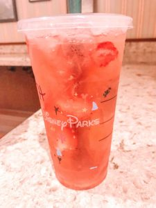 Strawberry Acai Refresher - Main Street Bakery Starbucks, Magic Kingdom